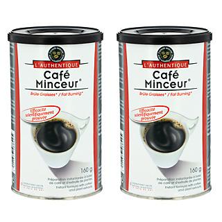 Mincir Avec plaisir. Café 100% arabica Associé à une formule minceur Programme alimentaire 2 pots de 173 g sur 2 mois.