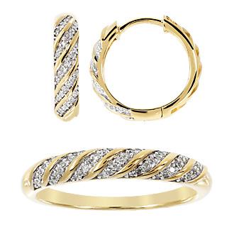 Des diamants divins. Argent 925 plaqué or 102 diamants pour 0.22 ct Satisfait ou remboursé 15 jours.