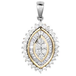 Une promesse pour l'éternité. Argent 925 rhodié et plaqué or 29 diamants taille baguette 34 diamants taille ronde 1/2 carat.