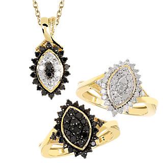 Diamonescence Bagues Hypnotique Diamants+pendentif+chaîne