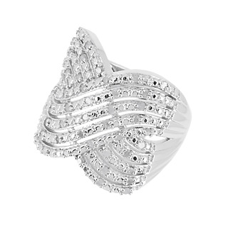 La brillance du diamant! Argent 925 rhodié 45 diamants blancs totalisant 0,45ct.