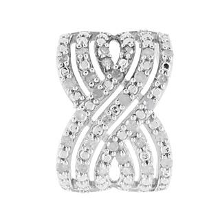 La brillance du diamant! Argent 925 rhodié 30 diamants blancs totalisant 0,25ct.