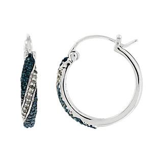 Un mariage divin de diamants. Argent 925 rhodié 56 diamants bleus traités 22 diamants blancs 0.40 carat.