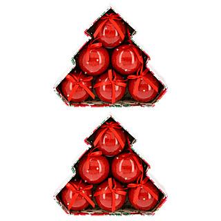 Coffret 6 Boules Lumineuses Couleur Rouge - Lot de 2 M6 Boutique
