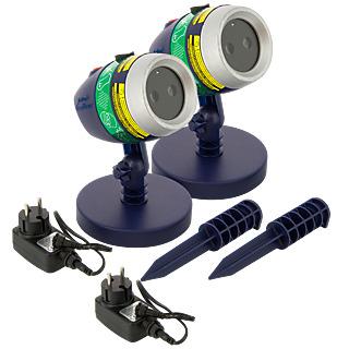 STAR SHOWER LASER MAGIC - Projecteur Laser- Lot de 2 M6 Boutique