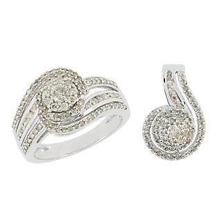 Une symphonie de diamants. Argent 925 rhodié 163 diamants 1.18 carat.