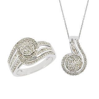 Diamonescence Parure Diamants Enlacés
