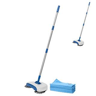 Nettoyez en un mouvement ! Balai sans fil et manuel Brosses rotatives Ultra léger Idéal sur surfaces dures.
