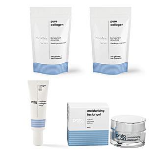 La Cure Collagène pour une double action ! Le collagène, un actif reconnu Une cure de 4 mois Agit de l'extérieur et de l'intérieur 2 crèmes offertes.