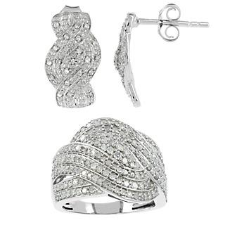 Beauté suprême ! Argent 925 rhodié 202 diamants 1.18 carat.
