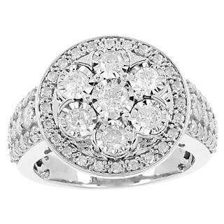Un trophée éblouissant ! Argent 925 rhodié 63 diamants 1.50 carat.