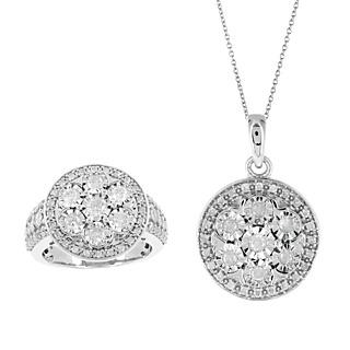 Diamonescence Parure Médaille Diamants