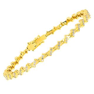 Infiniment précieux. Argent 925 plaqué or jaune 99 diamants 1 carat.