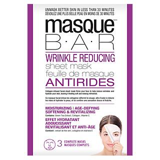 Pour une peau plus jeune ! Masque en tissu adapté à la forme du visage Tissu infusé au collagène Peau plus jeune Routine beauté des coréennes.