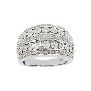 103 diamants pour une bague majestueuse ! - Argent 925 rhodié - 103 diamants - 1/2 carat.