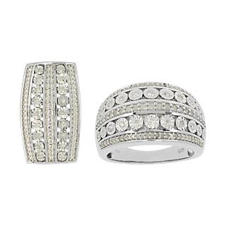 103 diamants pour une bague majestueuse ! - Argent 925 rhodié - 121 diamants - 0.5 carat.