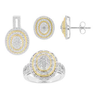 Un tourbillon de diamants !. Argent 925 plaqué or 61 diamants 1/2 carat Pendentif offert.