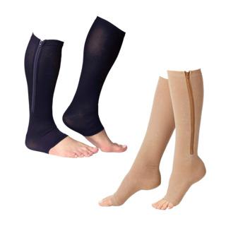 Soulagez vos jambes grâce à la compression ! Soulages les douleurs aux jambes grâce à la compression Améliore la circulation sanguine, pour des jambes plus légères Facile à enfiler grâce à la fermeture éclair.