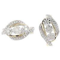 Promesse diamant ! Argent 925 rhodié Bague, 24 diamants 0.5ct Pendentif, 3 diamants 0.08ct.