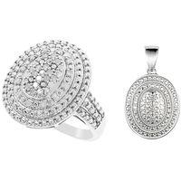 Diamonescence Bague Tourbillon Diamants 1/2 Carat