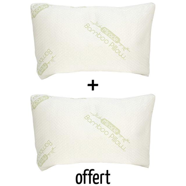 m6 boutique oreiller confort BAMBOU CONFORT   Oreiller Mémoire de Forme x2   M6 Boutique m6 boutique oreiller confort