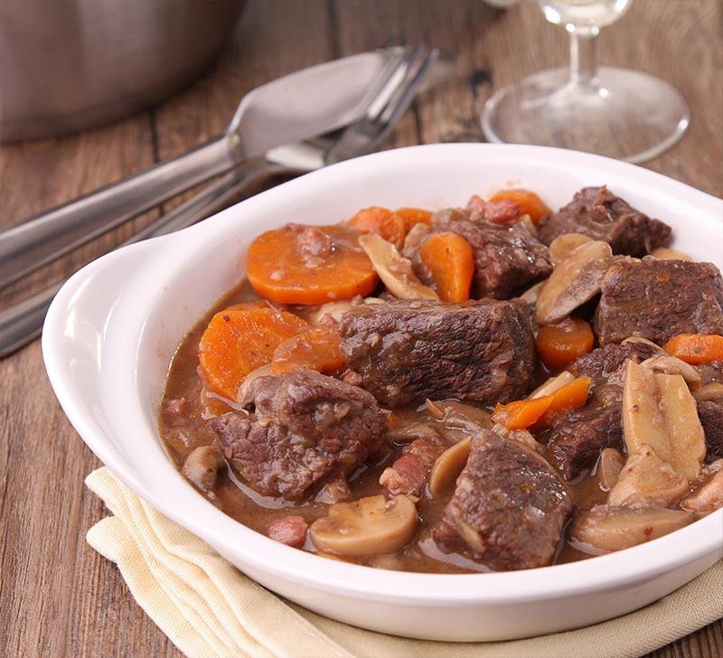 Recette boeuf bourguignon Compact Cook