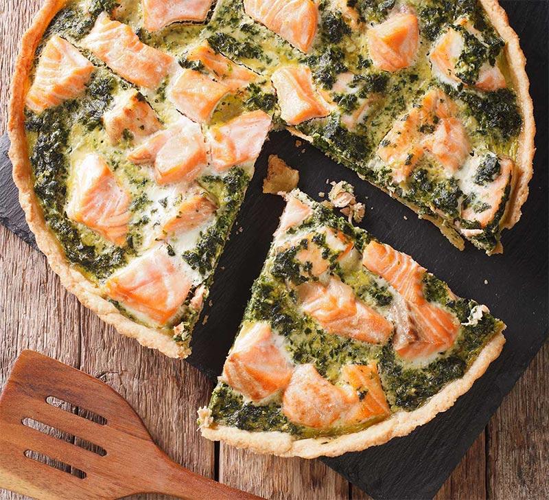 Recette quiche  saumon epinard avec la Compact Cook Elite