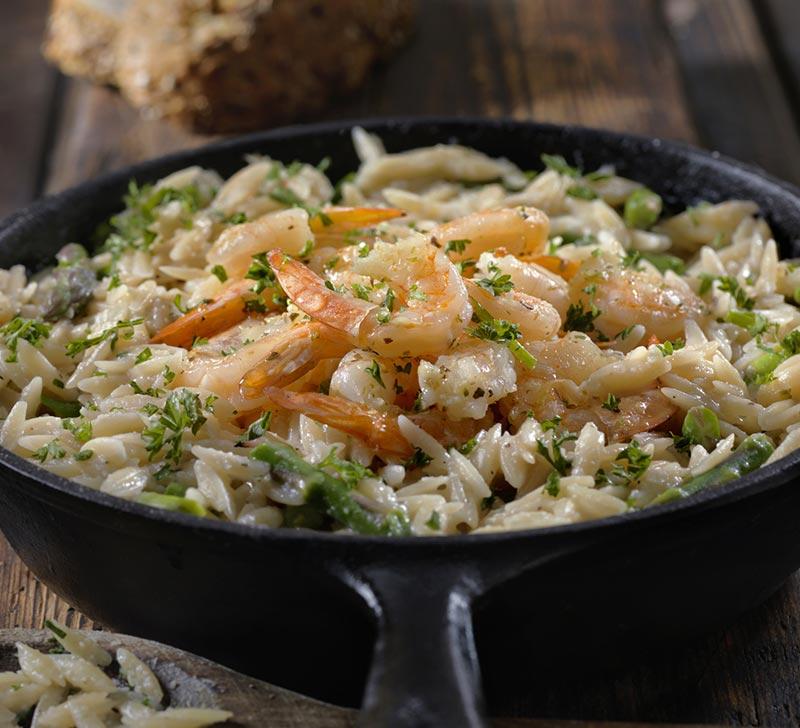 Recette de Risotto aux crevettes et asperges vertes avec le Compact Cook Elite