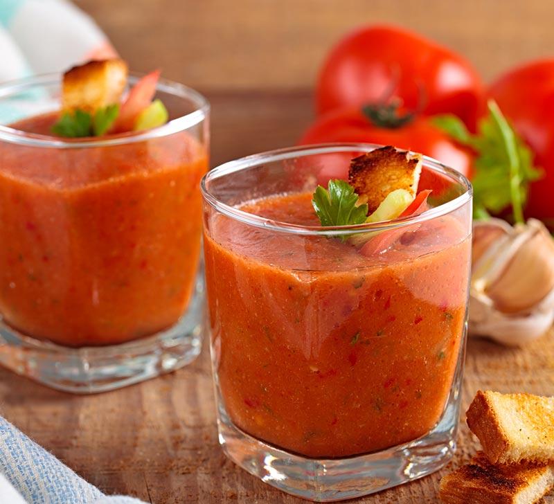 Recette de gaspacho avec le Compact Cook Elite