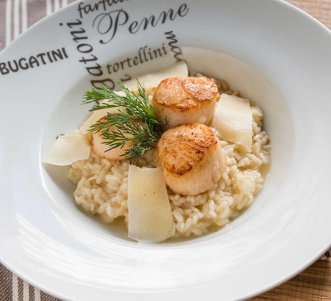 Recette de risotto cèpes et saint-jacques avec l'Autocuisto