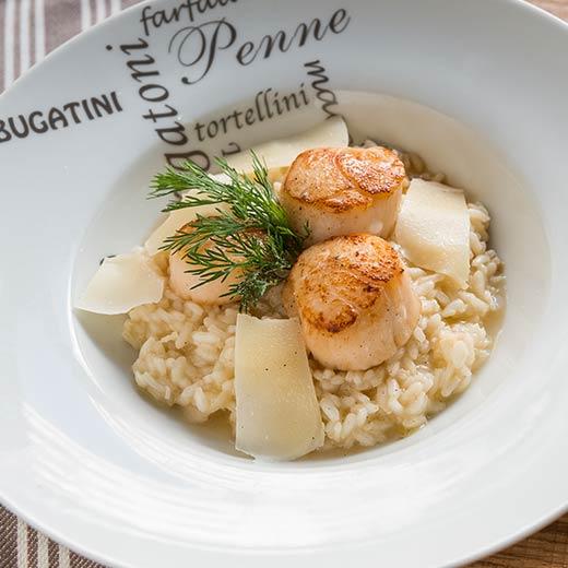 Recette de risotto aux cèpes et saint-jacques