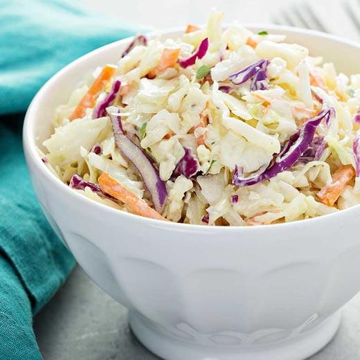 Recette coleslaw au crabe au compact cook elite